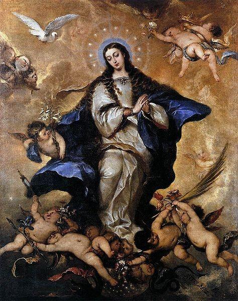 José Antolínez aprende con Francisco Rizi mostrando una gran maestria con serenas inmaculadas.Virgen coronada con 12 estrellas y paloma del E.S,rodilla dcha flexionada y movim.vibrante de la túnica.Abajo letanias lauretanas.