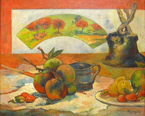 Paul Gauguin.Nature Morte.1889 Hacia la abstracción crea un ritmo dinámico. Gauguin será el padre de los nabis.