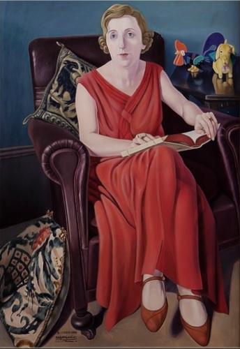 Cagnacio di San Pietro.Retrato de la Sra Wighi 1930-36.Museo de Arte Contemporáneo di Trento e Rovereto.