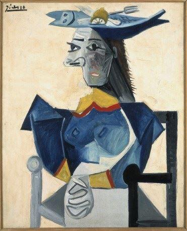 Mujer con sombrero 1942..Óleo sobre lienzo 73x60cm. Lam, Lille, Metropole, Musée dÁrt moderne, d´art contemporaine et d´art brut, Villeneuve d´asq