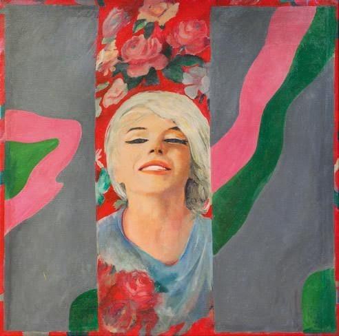 Pauline Boty,Retrátala desaparecida 1962.Óleo sobre lienzo.Una joven promesa del pop desaparecida tempranamente por una grave enfermedad, hizo de ella su particular homenaje con ojos de mujer.