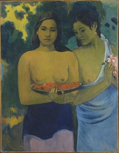 P Gauguin, Dos mujeres tahitianas, 1899. Óleo sobre lienzo.94x72cm,Metropolitan Museum of Art, Nueva York