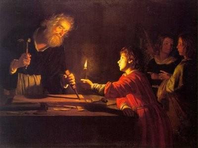La infancia de Cristo.Gerrit van Honthorst.(1590-1656)