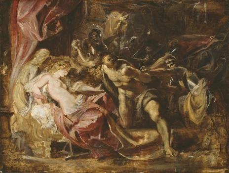 El prendimiento de Sansón,1609. Institute of Chicago Esta pintado encima de otro boceto incompleto,dramática iluminación y vigorosas posturas en contrapposto.