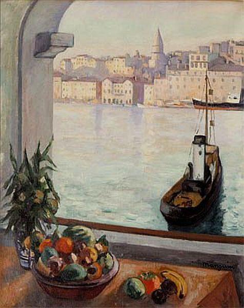 Henri Manguin.Vieux Port´`a Marseille 1925.Óleo sobre lienzo,81x65. Musée Ziem, Communne de Martigues.