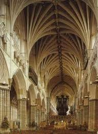 Nave central de la Catedral de Exeter