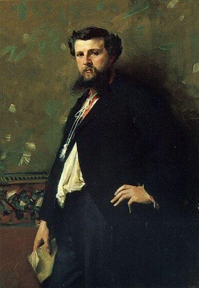 JOHN SINGER SARGENT. Édouard Pailleron 1879.Depósito del Château de Versailles en Musée d´Orsey. La aristocracia intelectual de la Belle Époque utiliza el retrato como promoción social.