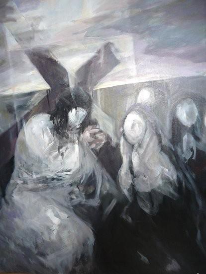 Ruizanglada.Agnus Dei.162x130cm.1995.El autor abrazó con humildad una vocación de servicio a la comunidad cristiana y fue capaz de suscitar el fervor del pueblo a través de sus obras de arte.
