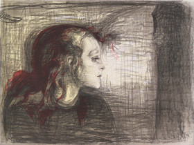 """""""Enfermedad,locura y muerte fueron los ángeles negros que mecieron mi cuna""""Munch.En este proceso de ruptura con el impresionismo jugó un papel fundamental su reflexión sobre la angustia existencial de la muerte en el ser humano."""