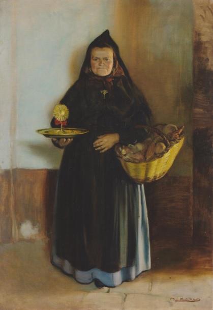 Ramón Casas i Carbó. La Santera 1915-1916. Uno de los pintores más importantes de Cataluña.Pintaba retratos y escenas de agitación social de Barcelona.