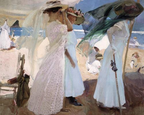 Sorolla.Bajo el toldo de Zarauz.1910.Óleo sobre lienzo.99x114cm.Saint Louis Art Museum,San Luis.