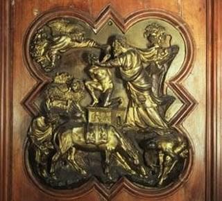 Sacrificio de Isaac. Lorenzo Ghiberti. Florencia