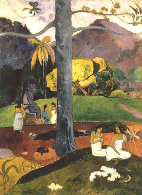Paul Gauguin. Mata Mua (Erase una vez) 1892 Óleo sobre lienzo. Colección Carmen Thyssen Su deseo de evasión constante y de las ataduras de la gran ciudad.