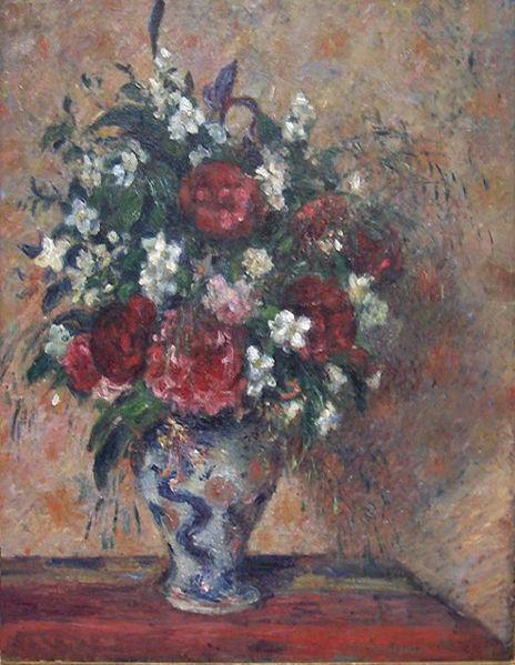 Pisarro.Florero con peonías y celindas 1877.Óleo sobre lienzo,81x64 cm.Van Gogh Museum,Amsterdam.