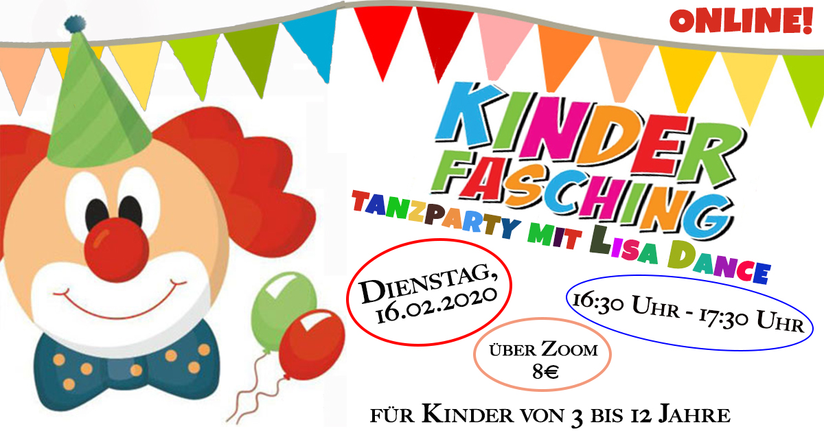 ONLINE - Kinderfasching: Tanzparty mit Lisa Dance