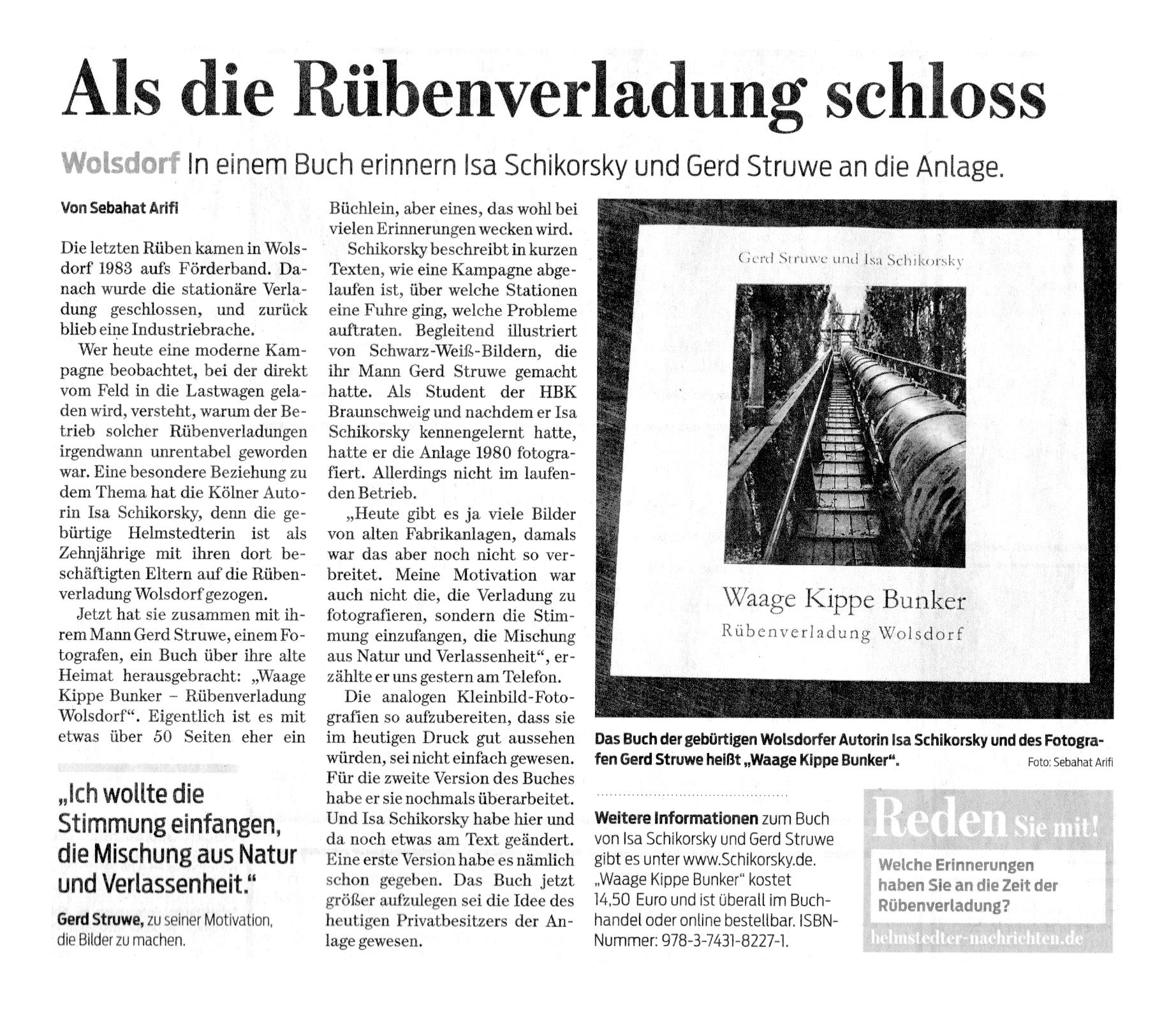 Braunschweiger Zeitung / Helmstedter Nachrichten vom Dienstag, 28. Februar 2017