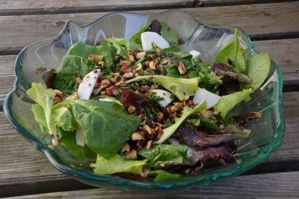 Salat, Frühlingssalat, Mairübe, Bärlauch