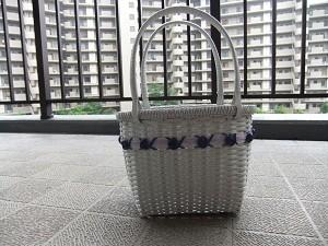 No.75 New‼   バラの飾りのミニバッグ  価格1500円  横15cm×高さ16cm×奥行き11cm