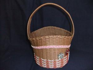 No.12  バスケット(茶)           価格 2300円 横22cm×高さ20cm×16cm