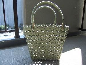 No.49扇形のバッグ    価格2500円   横21cm×高さ約27cm×奥行き約9cm