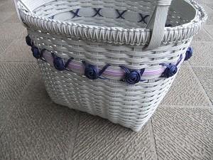 バラ、マクラメ編み部分拡大