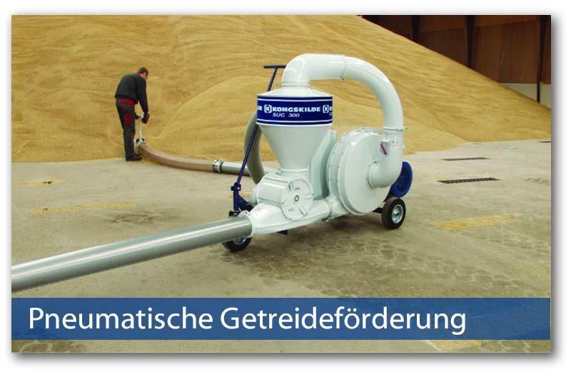 Pneumatische Getreideförderung von Kongskilde