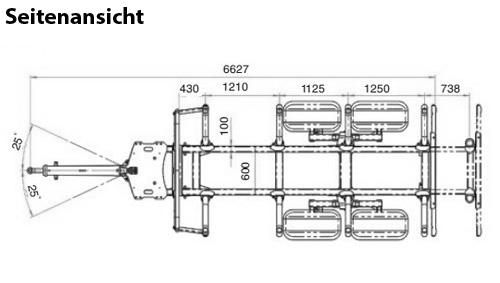 Uniforst Draufsicht Rückewagen | 12.48 und 14.49 / 7274 | Medl GmbH
