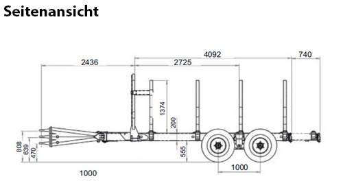 Uniforst Seitenansicht Rückewagen | 12.48 / 6080 © Uniforst | Medl GmbH