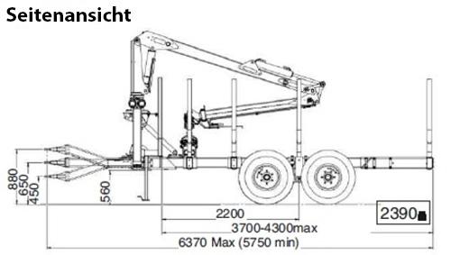 Uniforst Rückewagen Economy 2 Seitenansicht | Medl GmbH - Landtechnik Großhandel