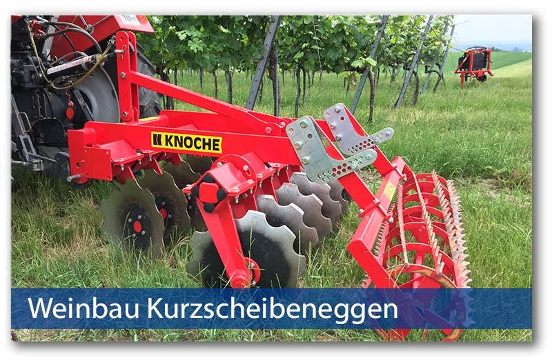 Weinbaukurzscheibeneggen von Knoche Maschinenbau