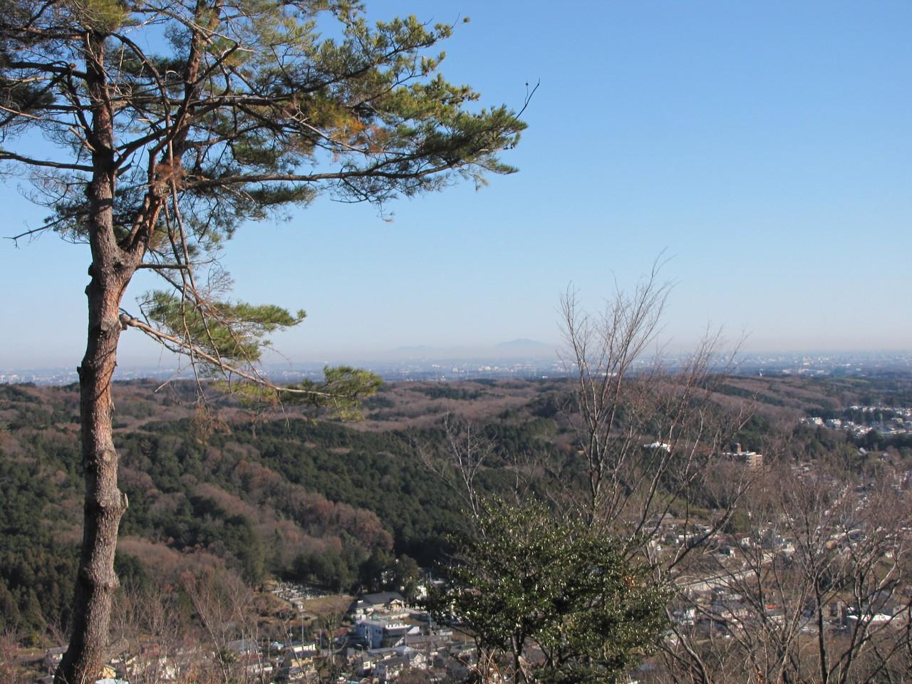 遠くに筑波山