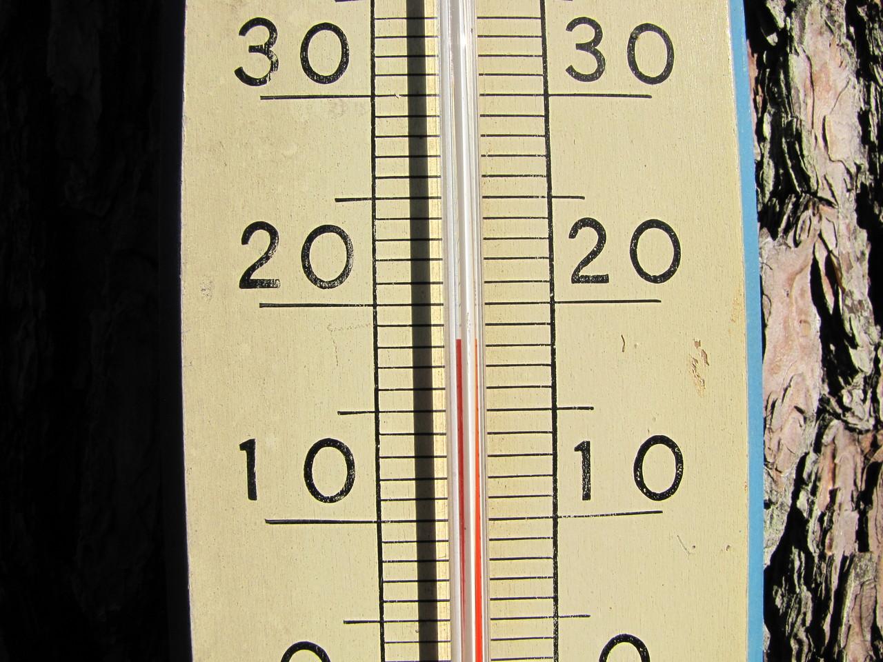 頂上に設置されている、おそらく壊れている温度計(もっと寒かったです)