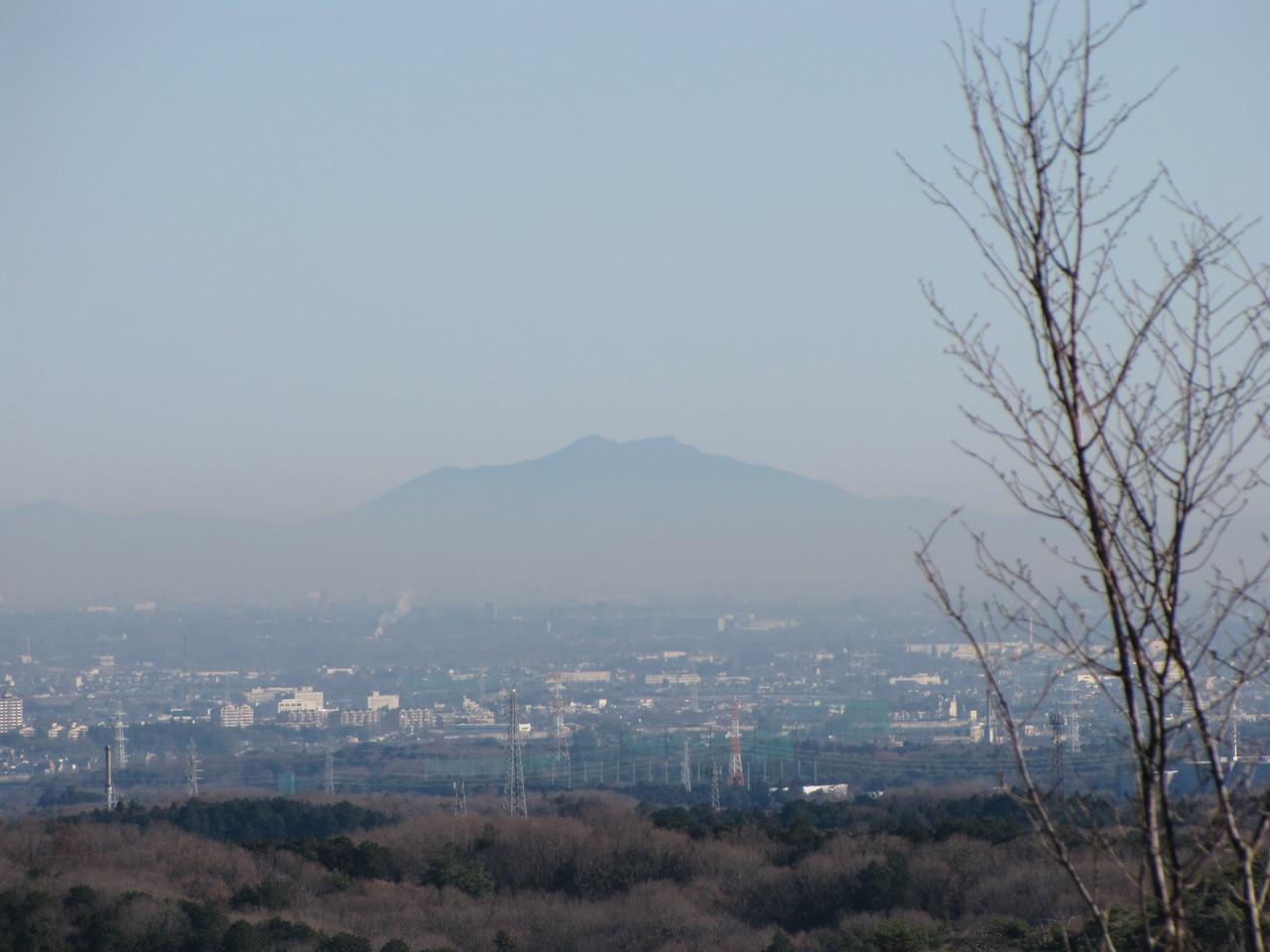 筑波山も見えます