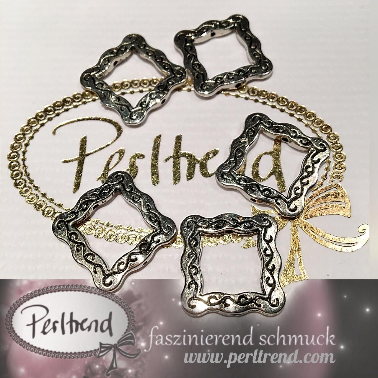 Perlen Silberfarben Rahmen - Perltrend Luzern