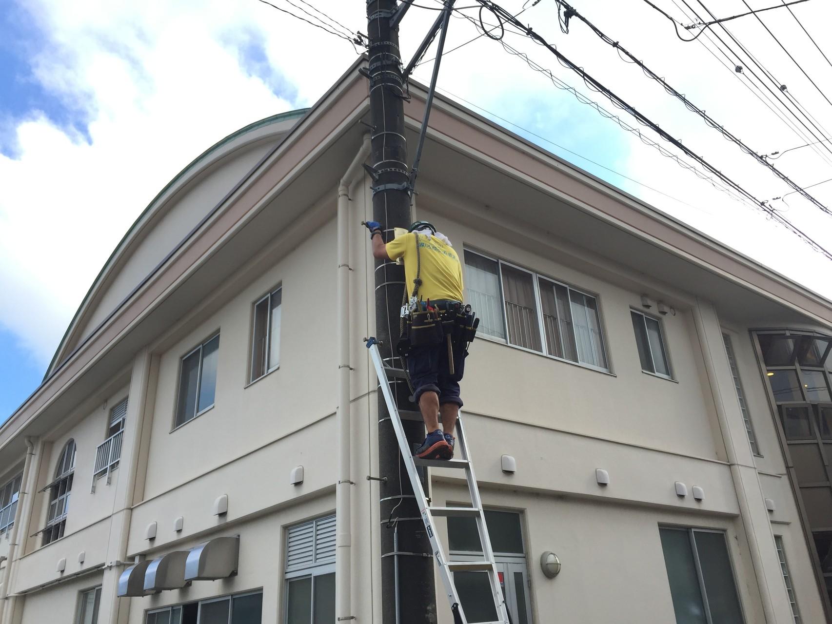 防犯灯交換工事