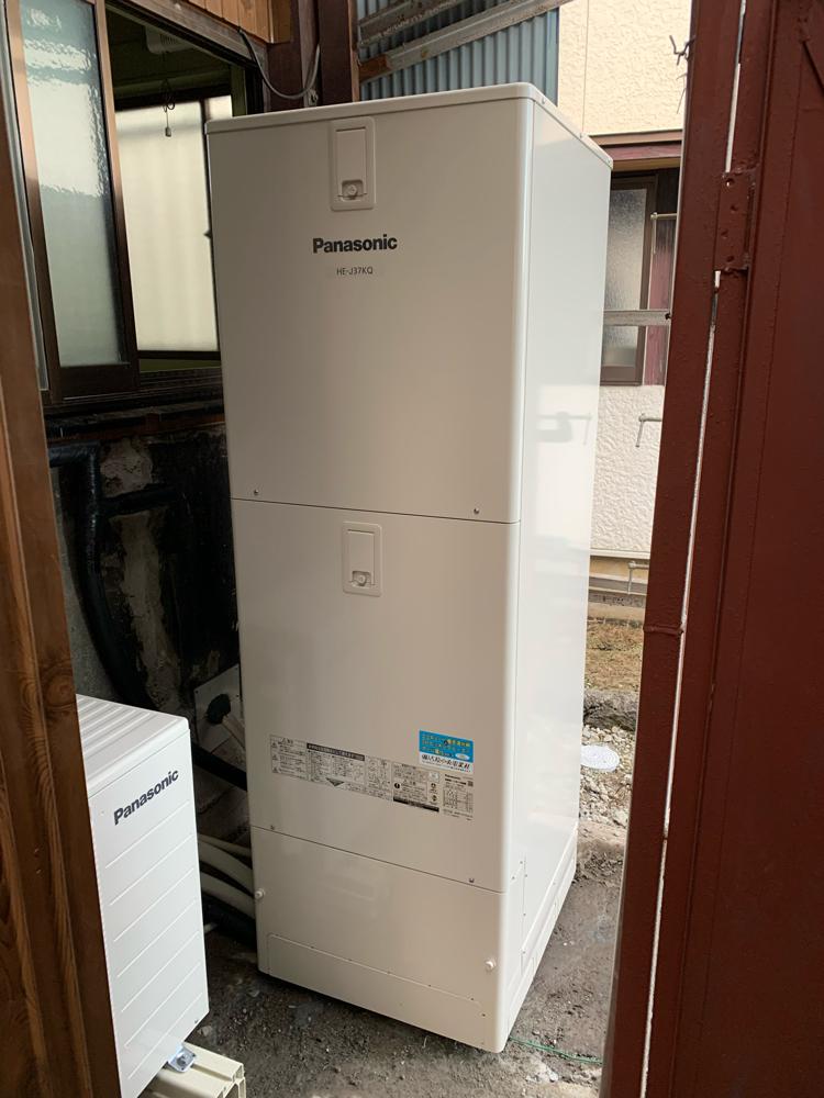 富士宮市 エコキュート設置工事 電温からエコキュートへ