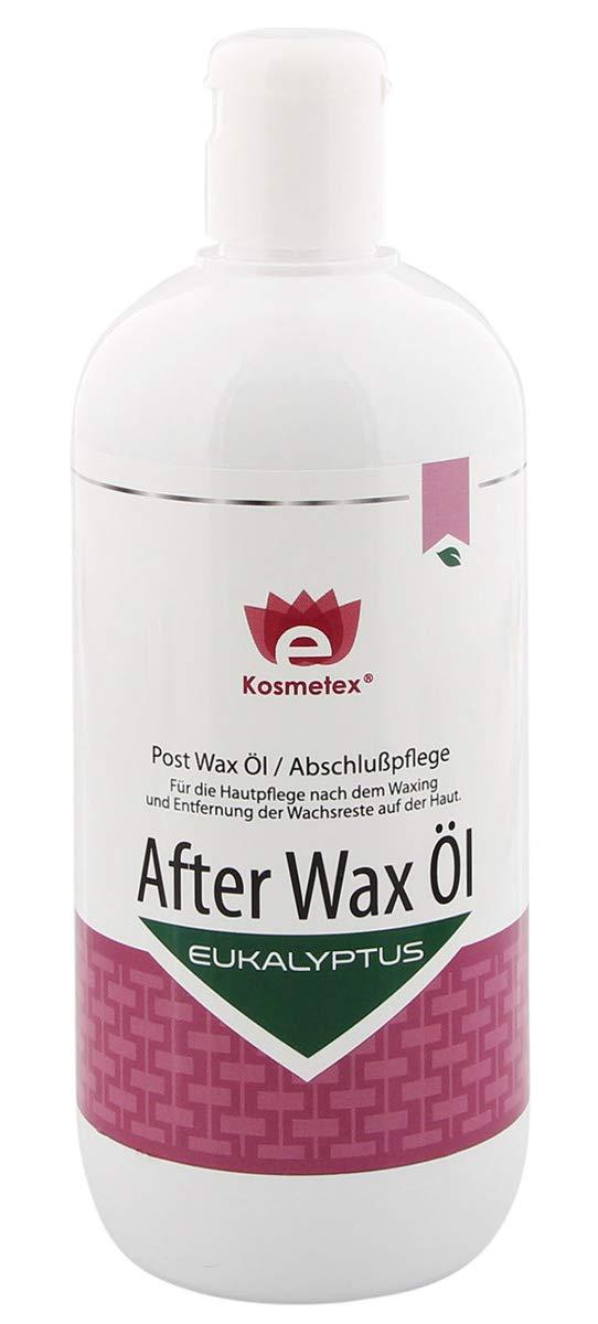 Kosmetex After Wax Öl mit Eukalyptus entfernt Wachsreste nach dem Wachsen - Waxing, Abschlußpflege, 500ml
