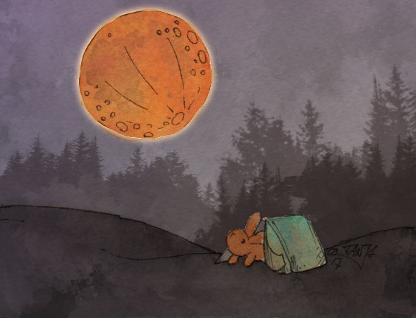 365-Tage-Doodle-Challenge - Stichwort: Mondfinsternis