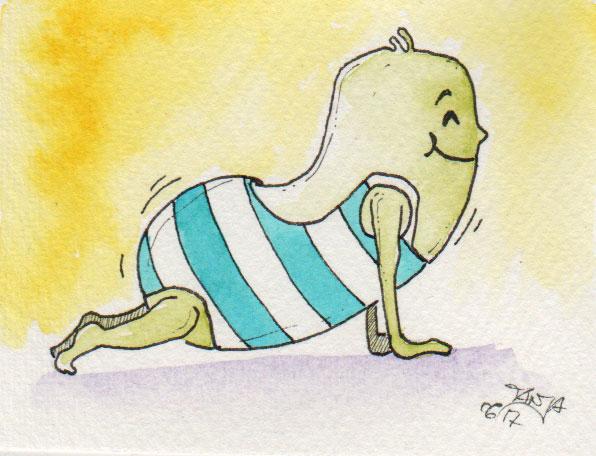 365-Tage-Doodle-Challenge - Stichwort: Yoga