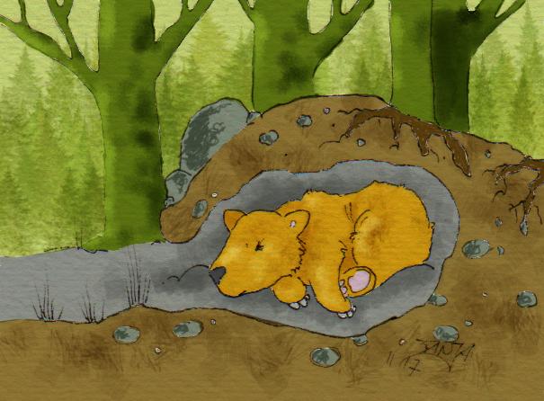 """Zeichnung zum Thema """"Wald"""" für die 365-Tage-Doodle-Challenge."""