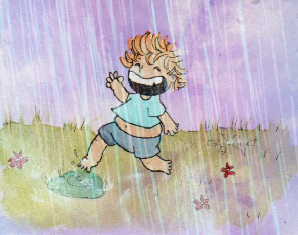 365-Tage-Doodle-Challenge - Stichwort: Sommerregen