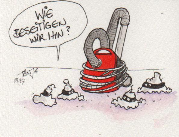 Zeichnung Nummer 267 bei der 365-Tage-Doodle-Challenge  zum Stichwort: Staubsauger
