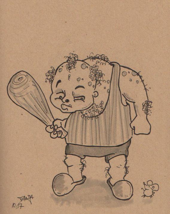 Inktober 2017 - Zeichnung Nr. 07 - Stichwort: Troll