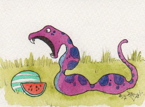 365-Tage-Doodle-Challenge - Stichwort: Wassermelone