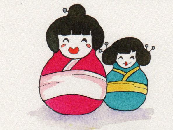 Zeichnung zum Thema Geisha für die 365-Tage-Doodle-Challenge.
