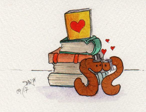 Zeichnung Nummer 270 für die 365-Tage-Doodle-Challenge zum Stichwort: Hochzeitstorte