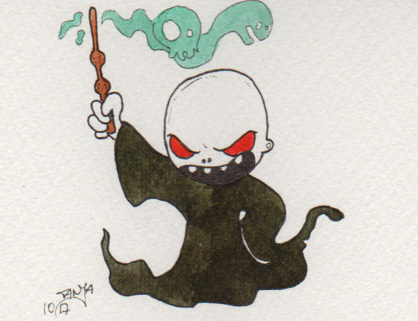 Zeichnung Nummer 280 für die 365-Tage-Doodle-Challenge zum Thema: Mann mit Glatze