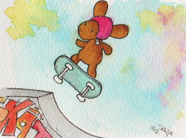 365-Tage-Doodle-Challenge - Stichwort: Skateboard