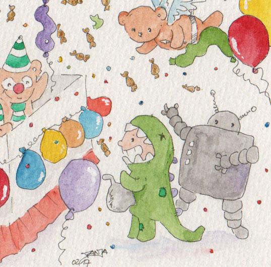 365-Tage-Doodle-Challenge - Stichwort: Faschingskostüm
