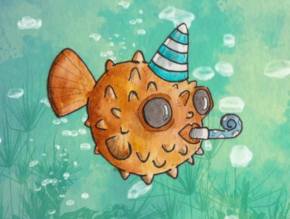 Gäste der Wal-Party: der Kugelfisch